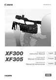 Canon XF300 - XF300, XF305 Instruction Manual