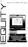 Epson Equity LT-386SX - User Manual